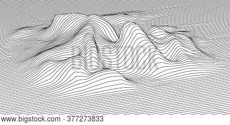 Vector Signal Amplitude In 3d Space. Sound Vibration.