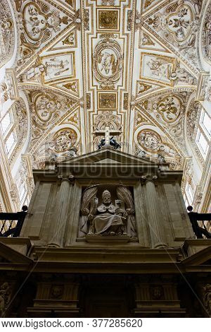 Cordoba, Spain - September 02, 2015: Interior Of The Mosque-cathedral Of Córdoba, The Cathedral Of O
