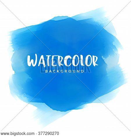 Blue Watercolor Paint Texture Background Vector Design Illustration