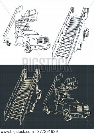 Airport Ladder Car Outline
