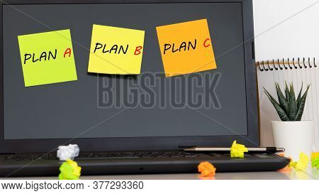 Plan A Or Plan B, Conceptual Image Of Choice. Making Strategic Decisions.