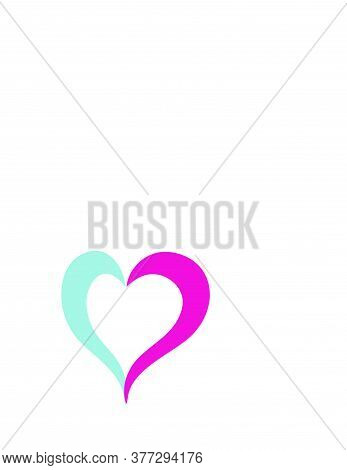 Romantic Couple Love Heart Logo And Vector Icon