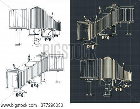Airport Telescopic Gangway Blueprints