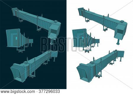 Airport Telescopic Gangway Color Drawings