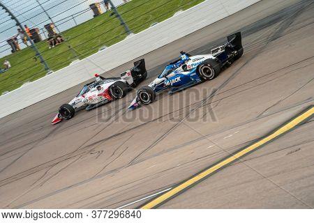 July 18, 2020 - Newton, Iowa, USA: TAKUMA SATO (30) of Tokyo, Japan  races through the turns during the  race for the Iowa INDYCAR 250s at Iowa Speedway in Newton, Iowa.