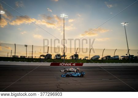July 18, 2020 - Newton, Iowa, USA: CONOR DALY (59) of the United States races through the turns during the  race for the Iowa INDYCAR 250s at Iowa Speedway in Newton, Iowa.