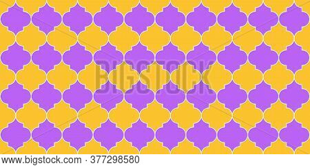 Ramadan Kareem Islamic Background. Arabic Mosque Window Shape. Eid Mubarak Muslim Decoration. Seamle