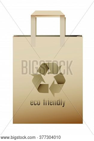 Paper Eco Bag. Re-processing Of Raw Materials. Environmentally Friendly Products. Health Food Stores