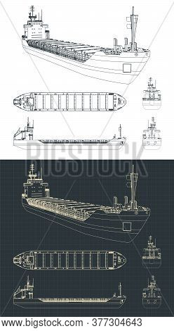 Dry Cargo Ship Drawings