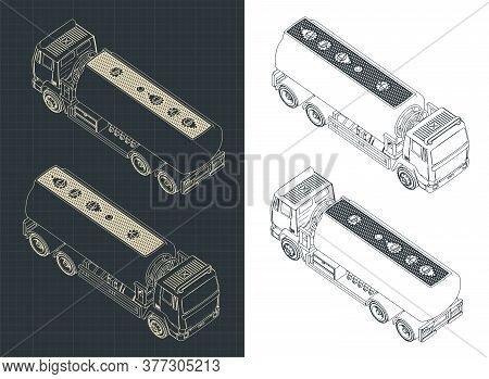 Fuel Truck Isometric Drawings