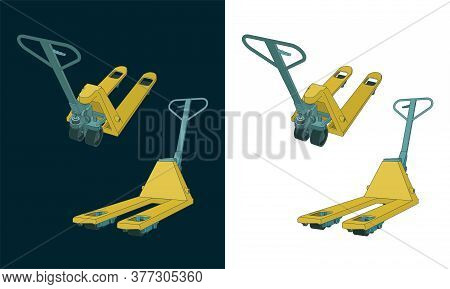 Hand Pallet Truck Color Drawings