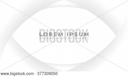 Abstract Smooth Monochrome Frame. White And Gray Gradation Color Theme. Modern Background Design Tem