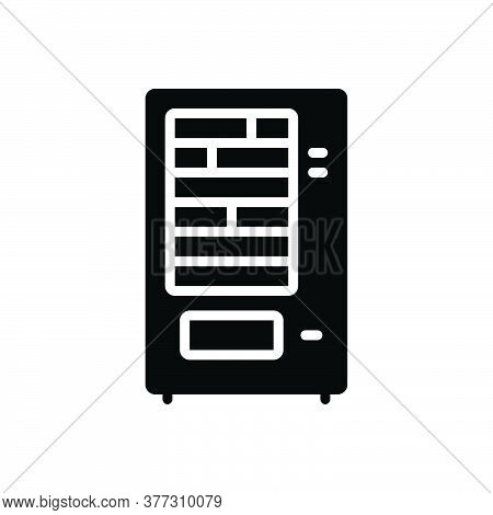 Black Solid Icon For Vending-machine Vending Machine Laundry Automation Electronic Beverage Confecti