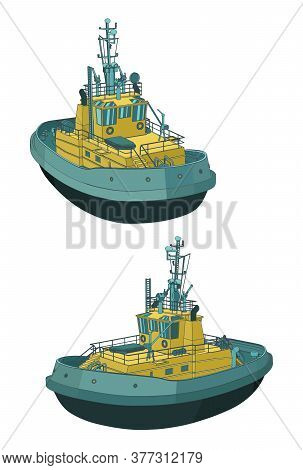 Tugboat Color Drawings