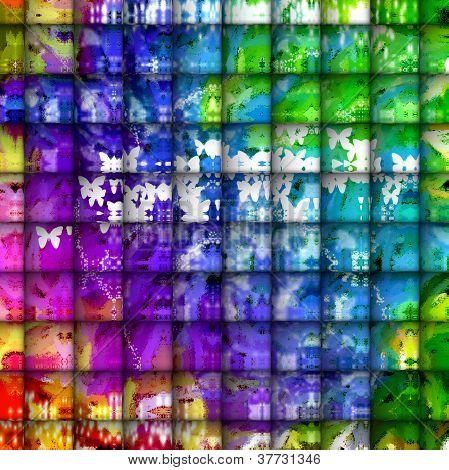 Abstract Art - Tiles Of Playfulness