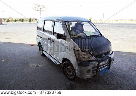 Hodeida / Yemen - 03 Jan 2013: A Bullet Hole In The Car, Yemen