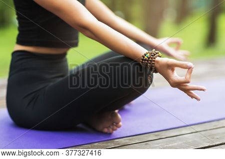 Cross-legged Girl, Improves Self-awareness, Increases Mental Clarity. Practice Stress-free Meditatio