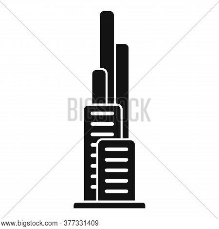 Dubai Skyscraper Icon. Simple Illustration Of Dubai Skyscraper Vector Icon For Web Design Isolated O