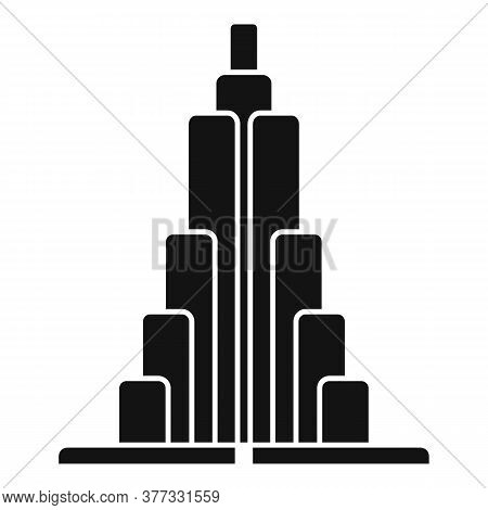 Stairs Dubai Building Icon. Simple Illustration Of Stairs Dubai Building Vector Icon For Web Design