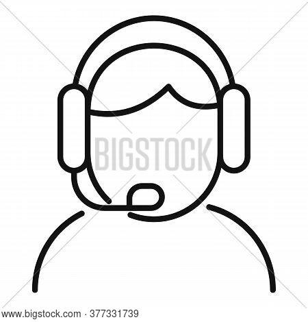 Storyteller Live Radio Icon. Outline Storyteller Live Radio Vector Icon For Web Design Isolated On W