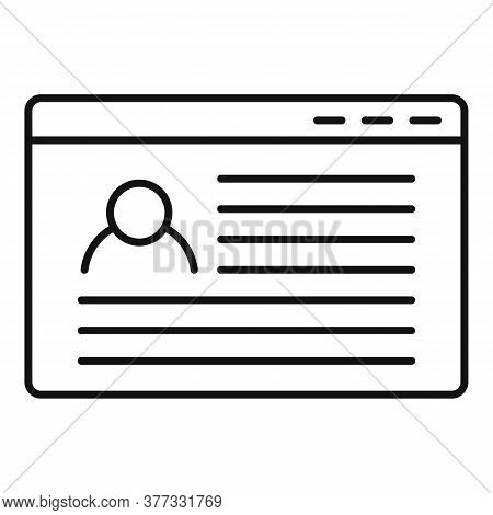 Storyteller Web Page Icon. Outline Storyteller Web Page Vector Icon For Web Design Isolated On White