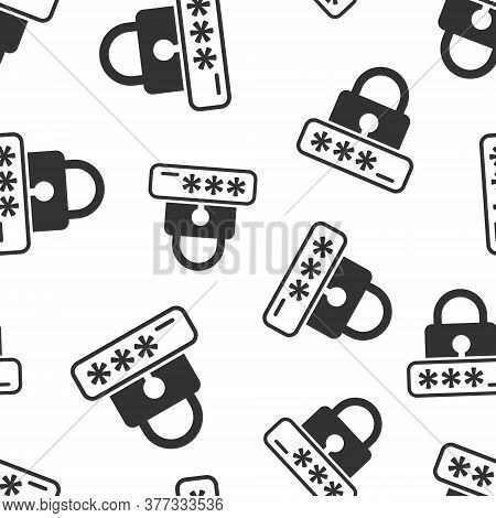 Login Icon In Flat Style. Password Access Vector Illustration On White Isolated Background. Padlock