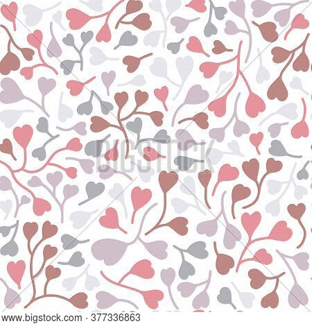 Seamless Heart Pattern. Repetitive Hand Draw Of Pastel Colors. Vector Seamless Pattern, Can Be Used