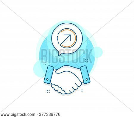 Arrowhead Symbol. Handshake Deal Complex Icon. Direction Arrow Line Icon. Navigation Pointer Sign. A