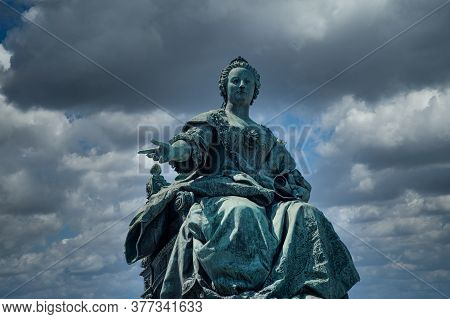 Maria Theresia Monument, Empress Austria And Travel Destination At Maria Theresien Platz In Vienna