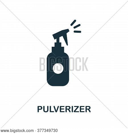 Pulverizer Icon. Simple Element From Personal Hygiene Collection. Creative Pulverizer Icon For Web D