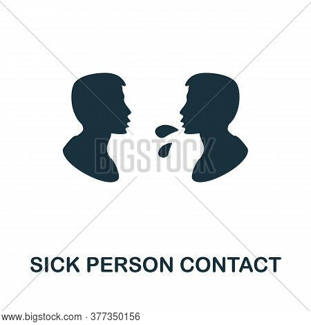 Sick Person Contact Icon. Simple Element From Personal Hygiene Collection. Creative Sick Person Cont