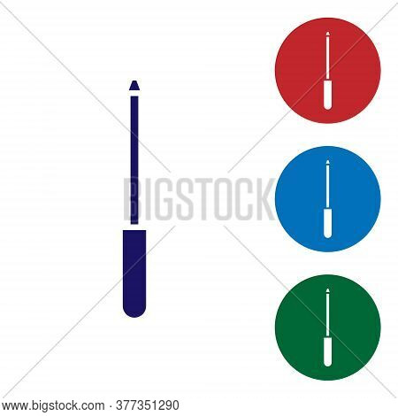 Blue Knife Sharpener Icon Isolated On White Background. Set Icons In Color Square Buttons. Vector Il