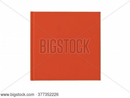 Red Hardcover Notebook Isolated On White Background