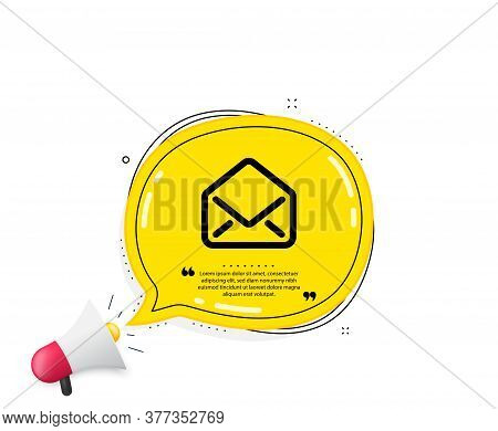 Mail Icon. Quote Speech Bubble. Message Correspondence Sign. E-mail Symbol. Quotation Marks. Classic