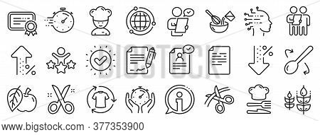 Approved Application, Scissors Cutting Ribbon, Artificial Intelligence Icons. Chef Hat, Customer Sur