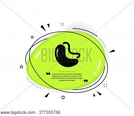 Cashew Nut Icon. Quote Speech Bubble. Tasty Nuts Sign. Vegan Food Symbol. Quotation Marks. Classic C