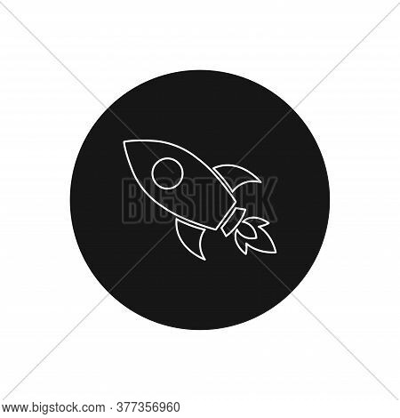 Rocket Icon Isolated On White Background. Rocket Icon In Trendy Design Style For Web Site And Mobile