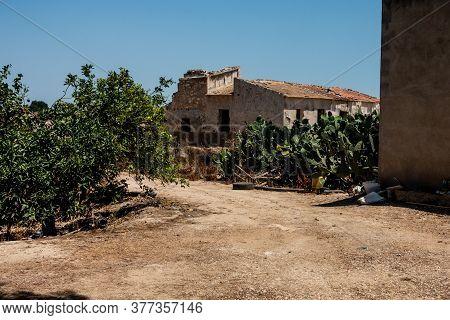 Old Derelict Buildings On Spanish Orange Plantation