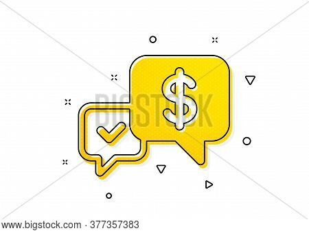 Dollar Exchange Sign. Payment Receive Icon. Finance Symbol. Yellow Circles Pattern. Classic Payment