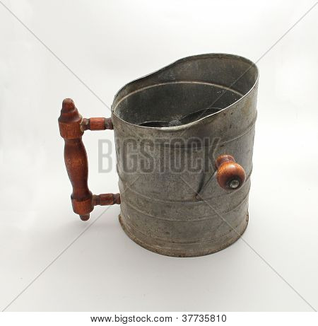 Isolated Flour Sifter