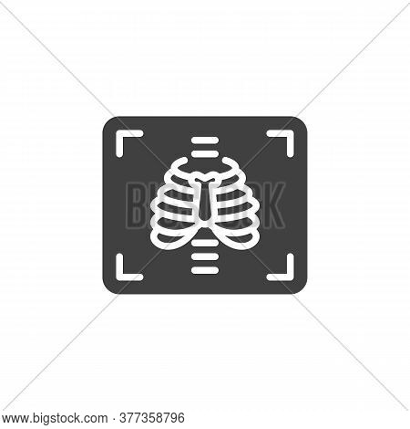 Chest X-ray Vector Icon. Filled Flat Sign For Mobile Concept And Web Design. Medical X Ray Glyph Ico