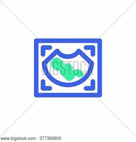 Pregnancy Ultrasound Icon Vector, Filled Flat Sign, Medical Ultrasonic Diagnostic Bicolor Pictogram,