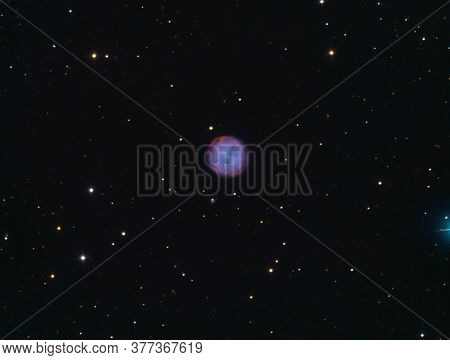 Owl Nebula From My Backyard. Owl Nebula Also Known As Messier 97,  Is A Planetary Nebula Located App