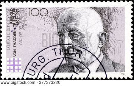 02 11 2020 Divnoe Stavropol Territory Russia The Postage Stamp Germany 1991 The 100th Anniversary Of