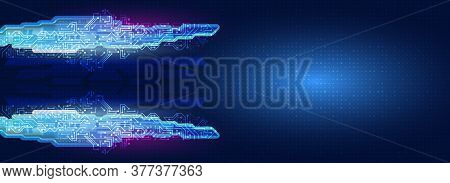 Abstract Wide Technology Background. Futuristic Digital Innovation Background. Hi-tech Communication