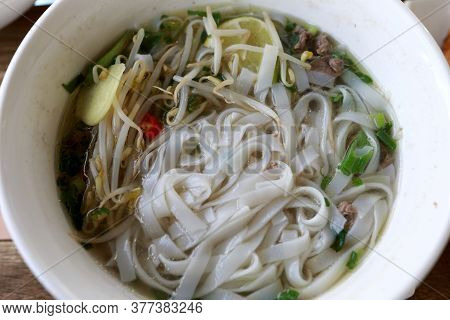 View Of Vietnamese Beef Noodle Soup