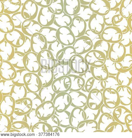 Vector Vegetables Peppers Slices In Ombre Green Yellow Scattered On White Seamless Repeat Pattern. B