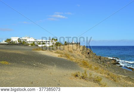 Puerto Del Carmen, Lanzarote, Canary Islands, Spain - September 19, 2019 : Puerto Del Carmen Coast I