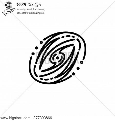 Galaxy Icon Thin Line, Linear, Outline Vector. Galaxy Simple Sign, Logo