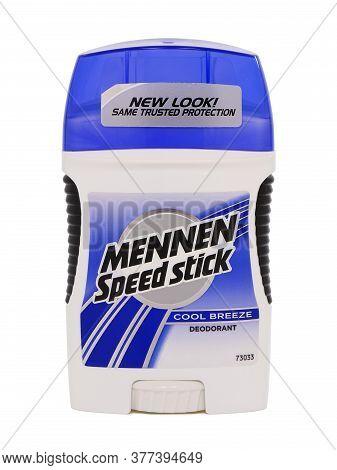 Bucharest, Romania - October 9, 2015. Mennen Speed Stick Cool Breeze Deodorant, Protection Against P